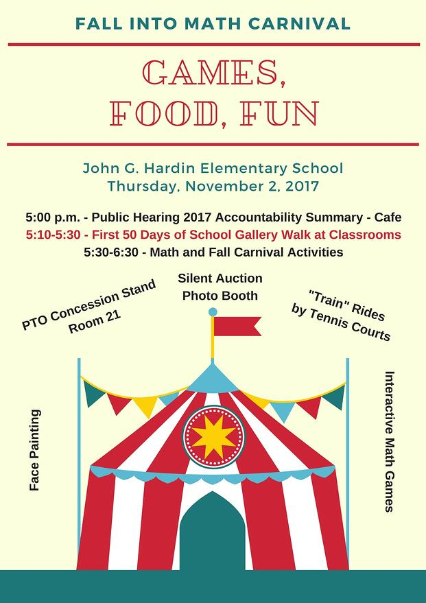 Hardin Fall Into Math Carnival